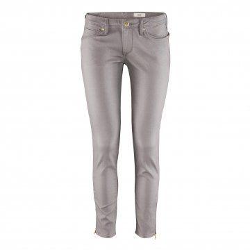 银灰色修身长裤