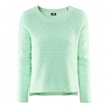薄荷绿针织衫