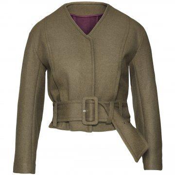 褐色短夹克