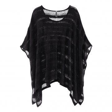Divided Grey系列黑色镂空针织罩衫