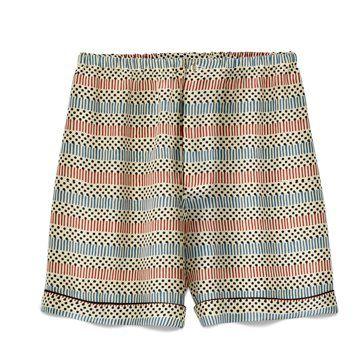 Marni at  丝质条纹印花短裤