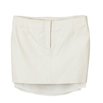 白色双层超短裙