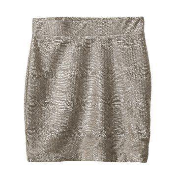 银色西装短裙