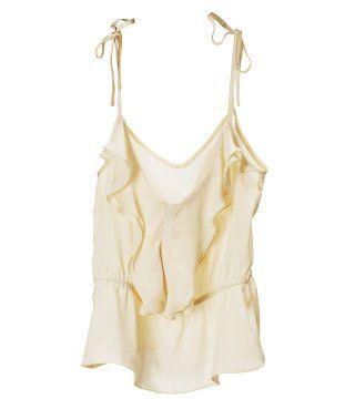 半透明纱质吊带背心