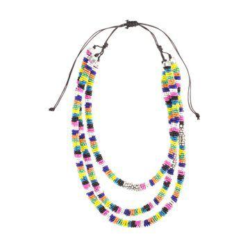 民族风彩色小珠项链