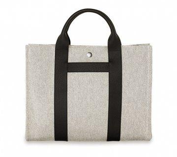 bi-material系列Harnais大号手提包