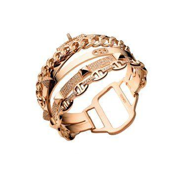 金色碎钻指环