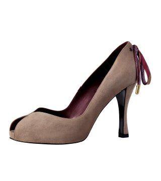 绒面山羊皮真丝PUMP软鞋