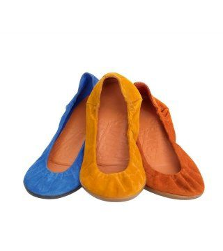 绒面山羊皮芭蕾舞鞋
