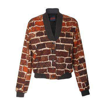 棕色印花外套