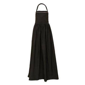 黑色褶皱连衣裙