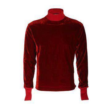 葡萄红天鹅绒卫衣