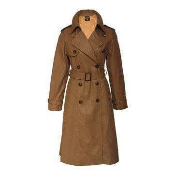 土黄色皮革大衣