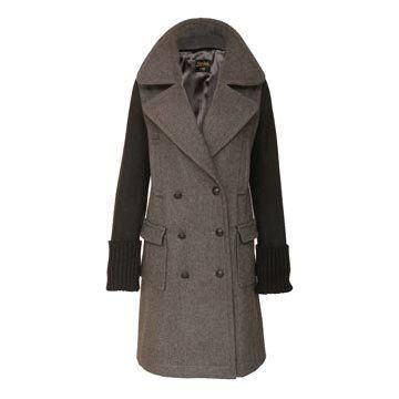 灰色羊绒大衣