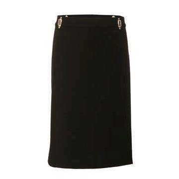 黑色直筒西装裙