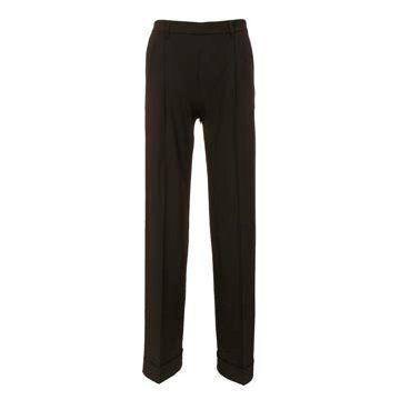 黑色直筒西装裤