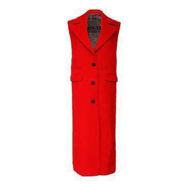 红色羊绒大衣