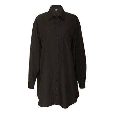 黑色真丝衬衫裙