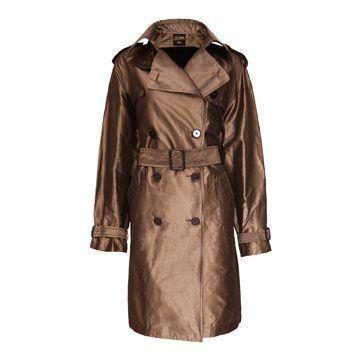 铜色光泽大衣