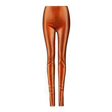 橘色紧身长裤