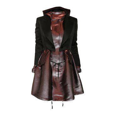 烟熏紫西装连衣裙
