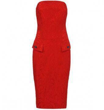 红色西装礼裙
