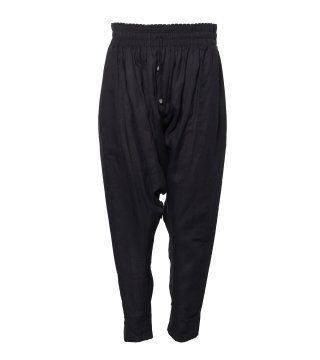 黑色超低档小脚裤