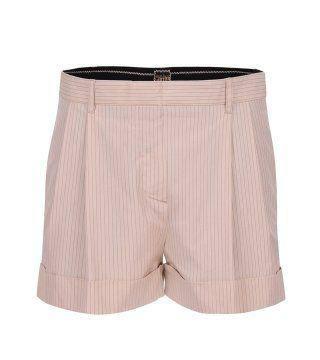 条纹卷边西服短裤