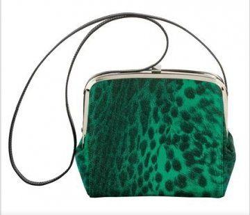 绿色豹纹挎包