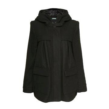 黑色羊绒外套