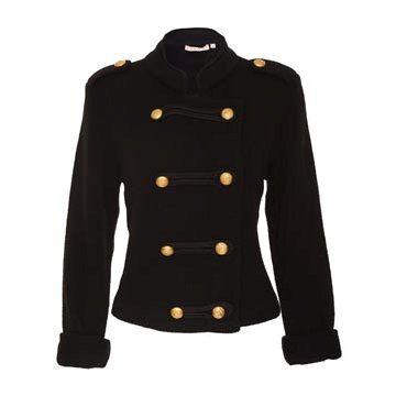 黑色针织西装外套