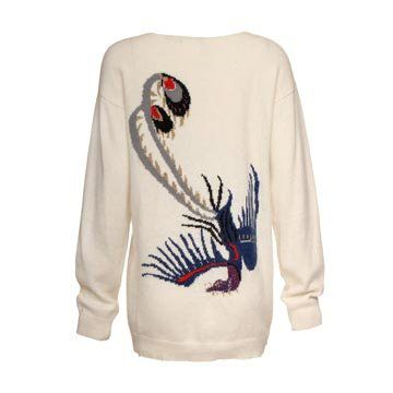白色羊毛针织衫