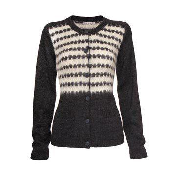 黑色羊毛针织衫