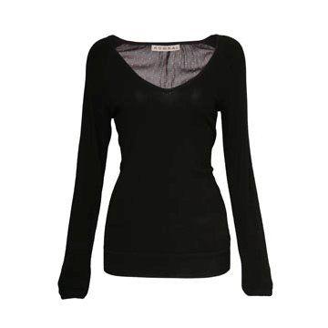黑色丝绵T恤