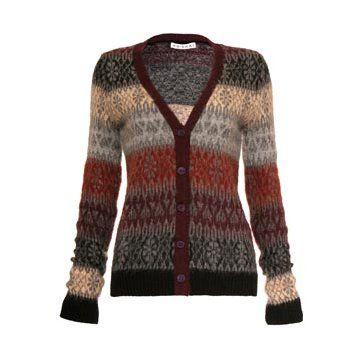 渐变色羊毛针织衫