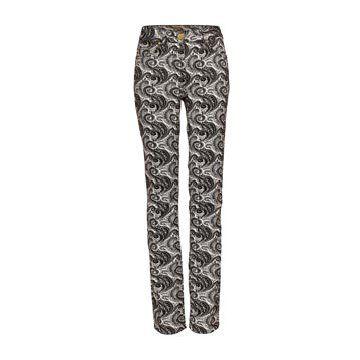 黑色螺旋纹长裤