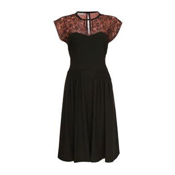 黑色真丝连衣裙