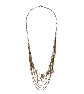 细链条珠串项链
