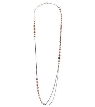 细链条彩珠项链
