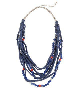 织物编条珠串项链