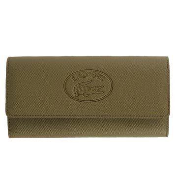 橄榄绿皮革钱包