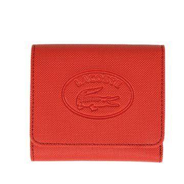朱红色皮革钱包