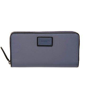 蓝灰色帆布钱包