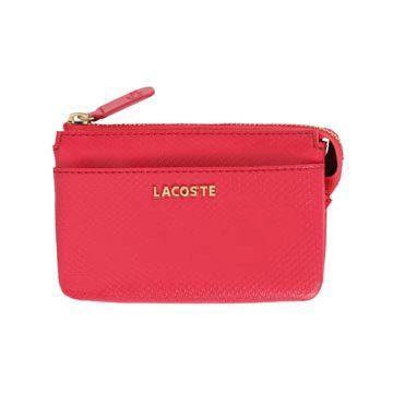 桃红色皮革钱包