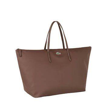 棕色帆布手提包