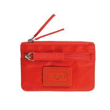 朱红色帆布零钱包