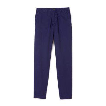 蓝色直筒长裤