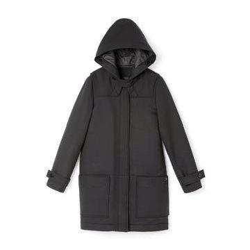 黑色羊绒大衣