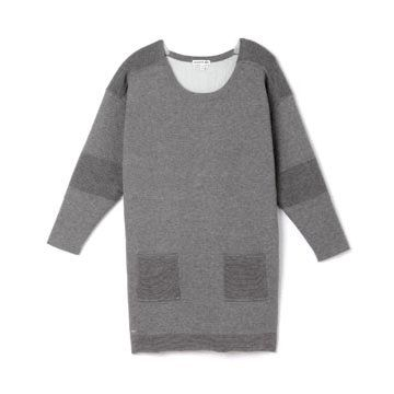 灰色纯棉长T