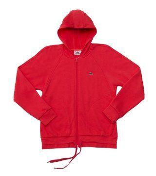 红色连帽衫